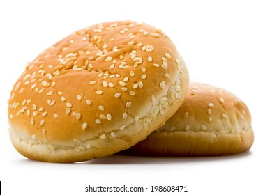Burger Bun on a white background isolated