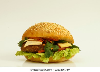 Burger from the fast food restaurant