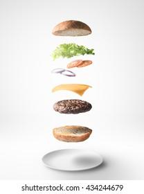 Burger floating 3