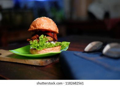 burger food and culinery