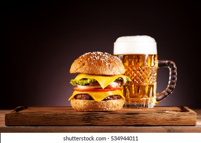 Burger And Beer High Res Stock Images Shutterstock