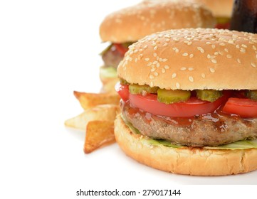 Burger on a white background
