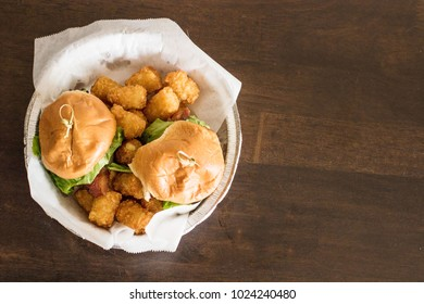 Burger and Tots to go
