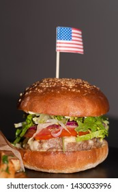 Burgers with 4th of july theme