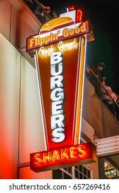 Burgers and Shakes at Downtown Las Vegas - LAS VEGAS / NEVADA - APRIL 23, 2017