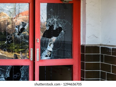Burglary door at a store