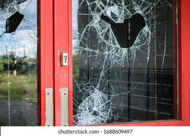 Burglary door at a store