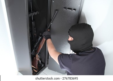 A Burglary and theft on Guns in a gun safe