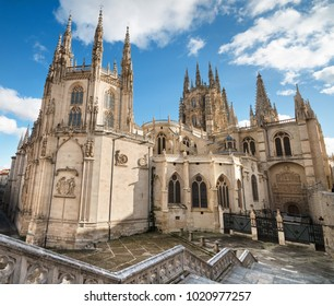 Burgos Cathedral.Famous Spanish Landmark.
