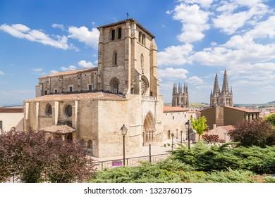 BURGOS, SPAIN - JUN 11, 2017: Iglesia de San Esteban
