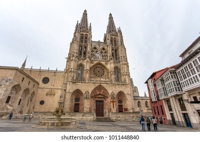 BURGOS, SPAIN, JUNE 10, 2016 - Cathedral dedicated to Virgin Mary in Burgos, Spain, which is under protection of UNESCO.