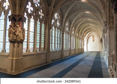 BURGOS, SPAIN - OCT 19: Interior of Cathedral of Santa Maria on Oct 19, 2014 in Burgos, Spain. It is famous for its size and architecture style and is declared a UNESCO World Heritage Site.