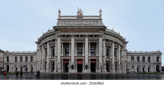 The Burgtheater is the Austrian National Theater in Vienna