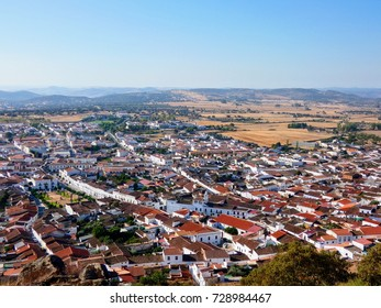 Burguillos del Cerro view from the castle, Spain