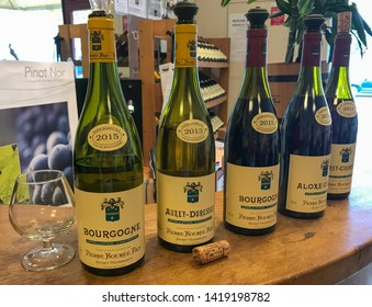 Burgundy / France - Sept 10, 2018: Delicious Burgundy Wine Tasting