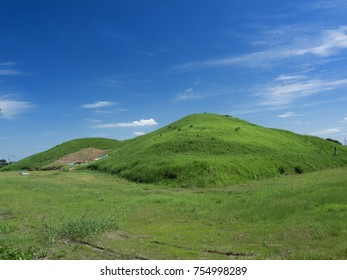"The burial mound called ""Futagoyama Kofun"" in Saitama Prefecture"