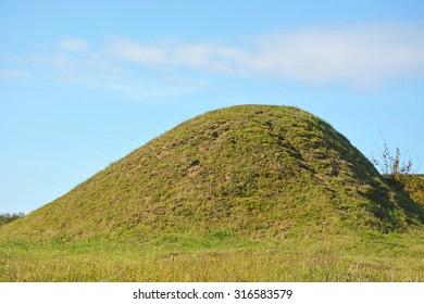 Burial mound- the place, as a legend says, where is the Prophetic Oleg Funeral - Shutterstock ID 316583579