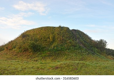 Burial mound- the place, as a legend says, where is the Prophetic Oleg Funeral - Shutterstock ID 316583603