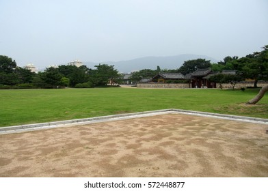Burial mounds area in Gimhae, South Korea