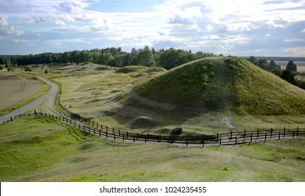 The burial mounds of Vikings in Gamla Uppsala in Sweeden