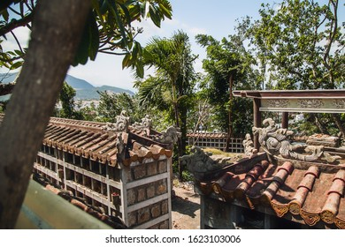 burial near Long Sean Pagoda Buddhist Temple in Nha Trang. Vietnam