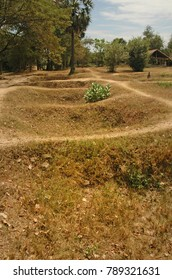 Burial Pits at The Killing Fields Cambodia