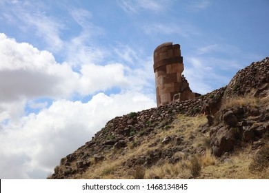 Burial Towers (Chullpas) at the archaelogical Site of Sillustani. Puno Region. Peru