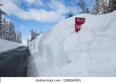 Buried Avalanche Sign in Snowy Walls