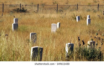 Buried where they Fell - Little Bighorn Battlefield National Monument - Montana