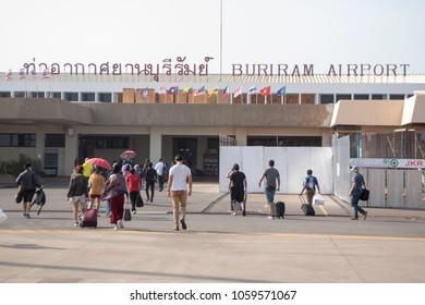 the Buriram Airport the city of Buriram in the province of Buri Ram in Isan in Northeast thailand.  Thailand, Buriram, November, 2017