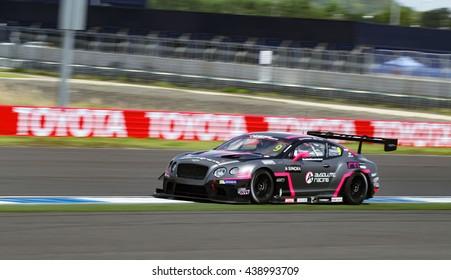 BURIRAM -JUN12: Car racing on track and road of Buriram festival of speed GT Asia series on june 12, 2016 at Chang International Racing Circuit ,Buriram Thailand.