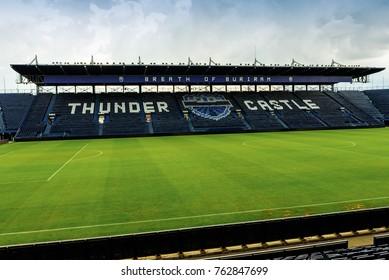 Buriram, Thailand - June 18, 2017: The Thunder Castle or Buriram United Football Club's stadium at Buriram Province, Thailand, which has a capacity of 32,600 seats.