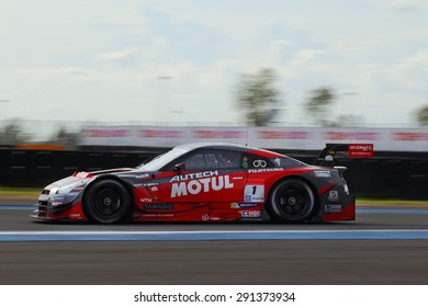 Buriram, Thailand - June 21, 2015: The final round for the BURIRAM SUPER GT RACE, Round 3 of the 2015 AUTOBACS SUPER GT series, was held at the Chang International Circuit Buriram Thailand.