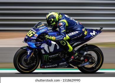 BURIRAM THAILAND- OCTOBER 6,2018 :Valentino Rossi of Movistar Yamaha MotoGP (46) Racing drives during the MotoGP Of Thailand at Chang International Circuit in BuriRam