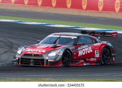 BURIRAM THAILAND-OCTOBER 5:Ronnie Quintarelli of NISMO Team drives during the Autobacs Super GT Round7 at Chang International Circuit,on Oct 05,2014 in,Thailand
