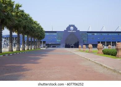 Buriram,Thailand - February 27,2017 : The i-mobile Stadium in Buriram,Thailand on February 27,2017. The i-mobile Stadium is the largest football stadium in Thailand.