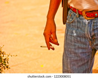 Buriram,Thailand -November 6 2018 : Nonidentical people smoking with many style stop smoking is the best way to live longer at Buriram,Thailand.