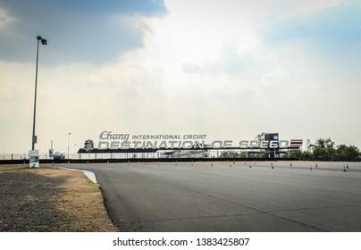 Buriram,Thailand-26 April 2019:Buriram International Circuit or Chang International Circuit is a standard car racecourse (FIA) in Thailand.
