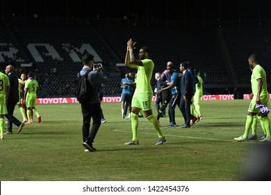 Buriram-Thailand-8Jun2019:Jafar aurelio miguel arias #19 Player of curacao in action during king's cup final match against Vietnam at chang arena,buriram,thailand