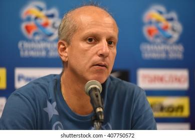BURIRAM,THAILAND-APR 5:Alexandre Gama of Buriram UTD. press conference during AFC Champions League 2016 Buriram UTD.and Sanfrecce Hiroshima at I-mobile Stadium on April 5,2016 in Thailand