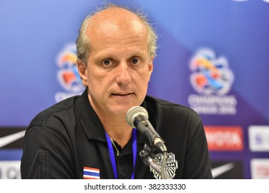 BURIRAM,THAILAND-FED 23:Alexandre Gama of Buriram UTD. press conference during AFC Champions League 2016 Buriram UTD.and FC Seoul at I-mobile Stadium on February 23,2016 in Thailand