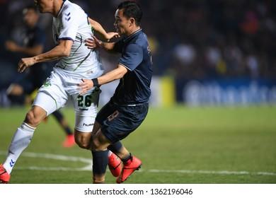 Buriram,Thailand-Mar13,2019:Supachok sarachat player of buriram united in action during AFC2019 between buriram utd against jeonbuk hyundai  at buriram stadium