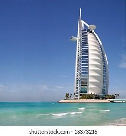 Burj al arab hotel in Dubai during the day