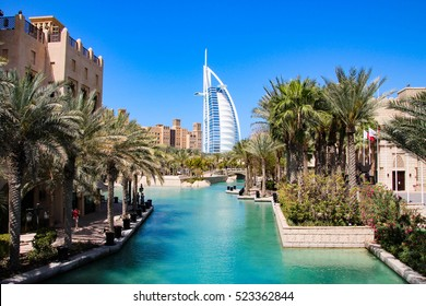 Burj al Arab seen from Madinat Jumeirah, Dubai