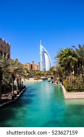 Burj al Arab seen from the Madinat Jumeirah in Dubai