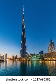 Burj Al-Khalifa, the tallest building in the world, Dubai, UAE