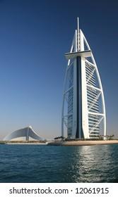 Burj Arab Building Seaward View From Gulf