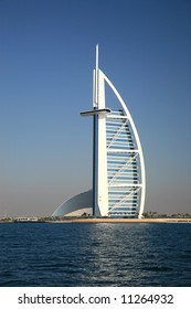 Burj Arab Building View From Gulf