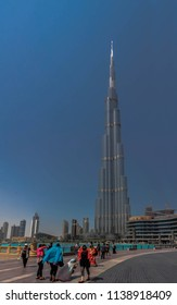 BURJ KHALIFA, DUBAI, UAE-20th APRIL 2017:-The Burj Khalifa is the tallest building in the world