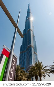 BURJ KHALIFA, DUBAI, UAE-20th APRIL 2017:-The Burj Khalifa is the tallest building in the world